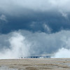 There's a storm coming.<br /> We just made it back to our car as as the rain roared in!!!<br /> Grand Prismatic Spring<br /> Yellowstone