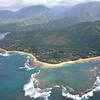 Tunnels Beach, viewed from a helicopter, out of Princeville<br />  Kauai