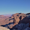 The Shafer Trail and La Sal mountains <br /> Island in the sky<br /> Canyonlands National Park