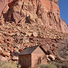 Fruita Schoolhouse stands alongside  Utah Highway 24<br /> Capitol Reef National Park