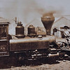 The photo records the first railroad on the island of Kauai in 1881<br /> The loco was named Pila'a and ran on a trackbed of about 3 miles pulling loads of up to 24 cars.<br /> <br /> Kilauea, Kauai