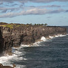 Lava Cliffs at end of Chain of Craters Road<br /> Volcanoes National Park<br /> Hawaii