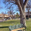 Historic Santa Fe Plaza<br /> <br /> in downtown Santa Fe, <br /> New Mexico