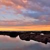 Sunset at Punaluu Black Sand Beach,<br />  Hawaii