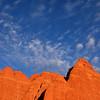Sandstones rock fins begin to glow around sunset<br /> <br /> Arches National Park