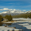 Spring thaw under way in Tuolumne Meadows, Tioga Road<br /> Yosemite