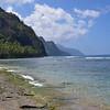Ke'e Beach and Na Pali cliffs on the Northern end of Kauai