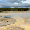 Water run off in the Midway geyser basin