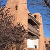 Spanish Pueblo style architecture<br /> <br /> Downtown,Santa Fe
