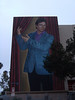 portrait of Mr. Ritter on the side of Hollywood High