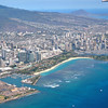 Ala Moana Beach Park, Honolulu with the edge of Waikiki to the far right