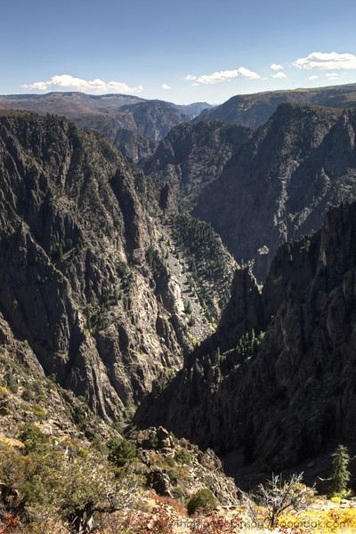 Ridges recede into the distance from Tomichi Point in the Black Canyon National Park, Colorado.