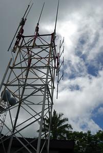 Mt Olotele Installation, NOAA weather radio transmitter antennas