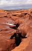 Karishma, getting down into the canyon.