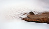 Interesting snow melt patterns above a dried pine bark