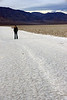 Karishma walks the salt flats at Badwater.