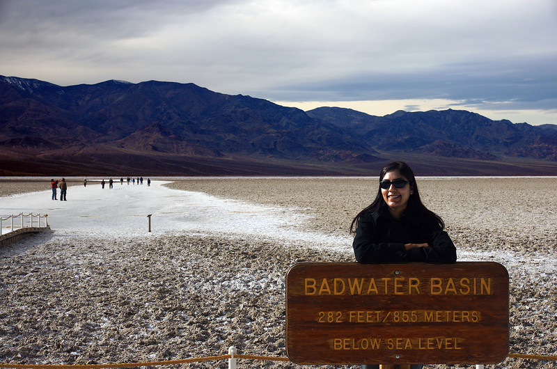 The second-lowest point in the Western Hemisphere is in Badwater Basin, which is 282 feet (86 m) below sea level.