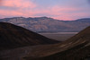 Sunsets on the Panamint mountain range.<br /> The wonderful striations add to the texture.