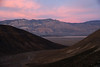 Sunset on the Panamint mountain range.<br /> The wonderful striations add to the texture.