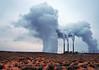 The copper mine spews copiously in Page, Arizona.