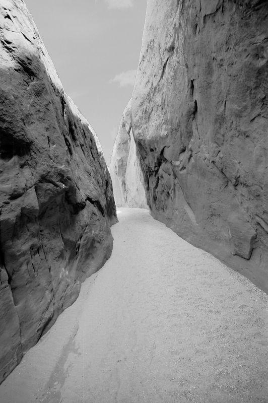 Escalante Slot Canyons black and white, Utah