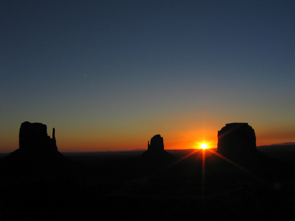 Monument Valley buttes at sunrise, Arizona and Utah horizontal 2