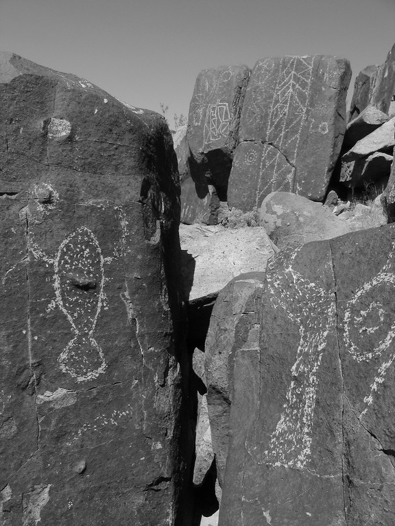 Rock Petroglyphs of fish in New Mexico