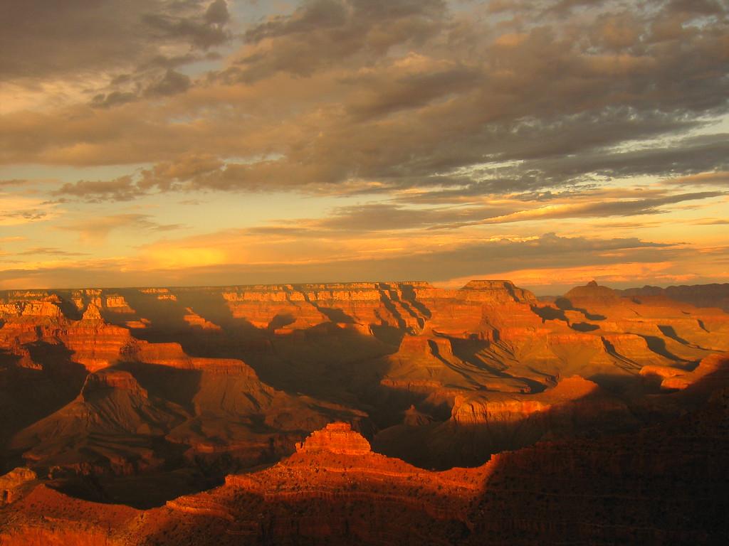 Filtered Sunset at the Grand Canyon, Arizona