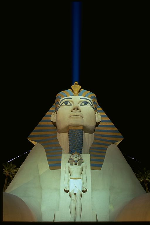 Luxor Sphinx with Xenon Light Las Vegas, Nevada
