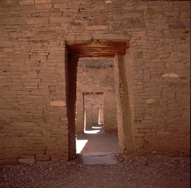 Chaco Canyon Indian Ruins doors, New Mexico