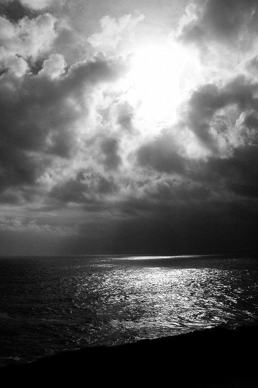 God light over the Pacific