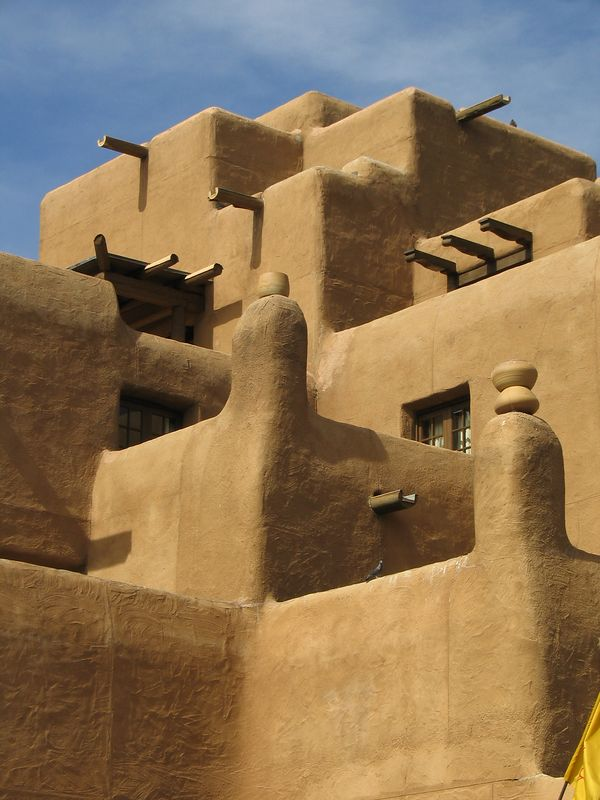 Adobe hotel in Santa Fe, New Mexico