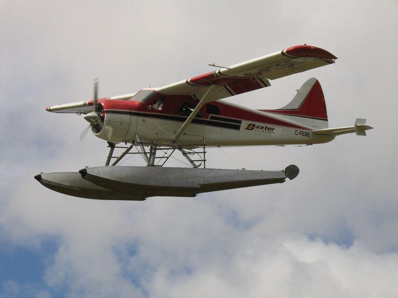 Sea plane landing near Vancouver, BC, Canada