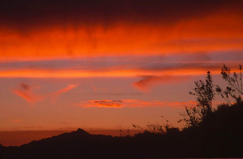 Sunset on Mulholland Drive, Los Angeles, California