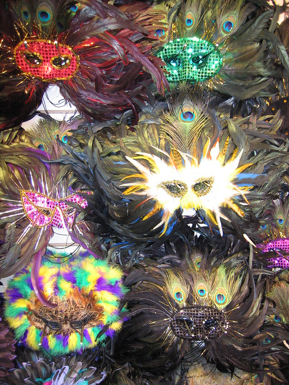 Mardi Gras masks in New Orleans, Louisiana