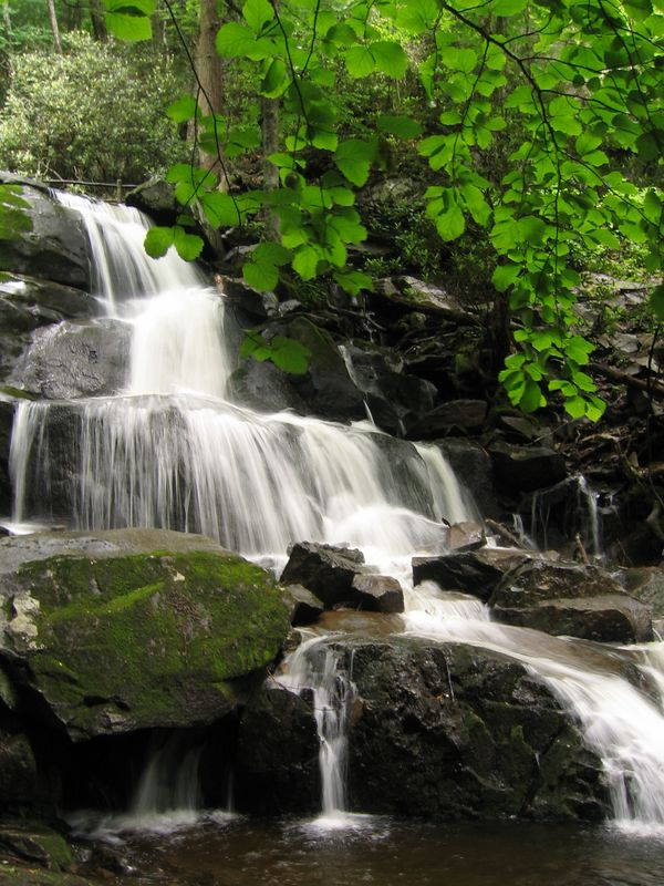 Great Smokies National Park full waterfall, North Carolina