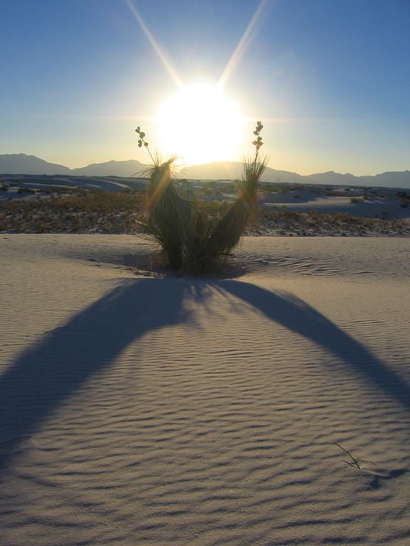 Sunset in White Sands, New Mexico