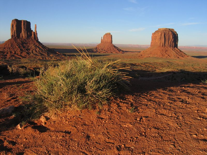 Monument Valley buttes at sunset, Arizona and Utah