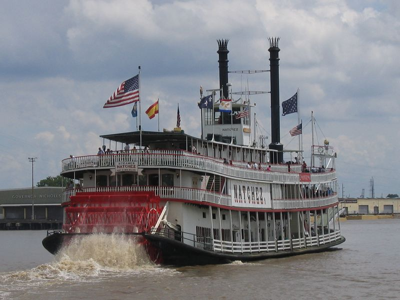 Natchez paddle boat  in New Orleans, Louisiana