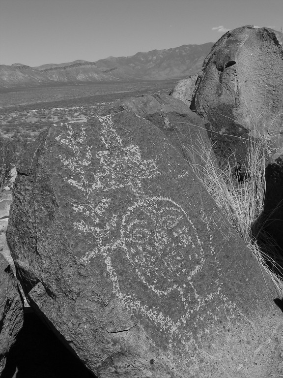 Rock Petroglyphs of indian in New Mexico