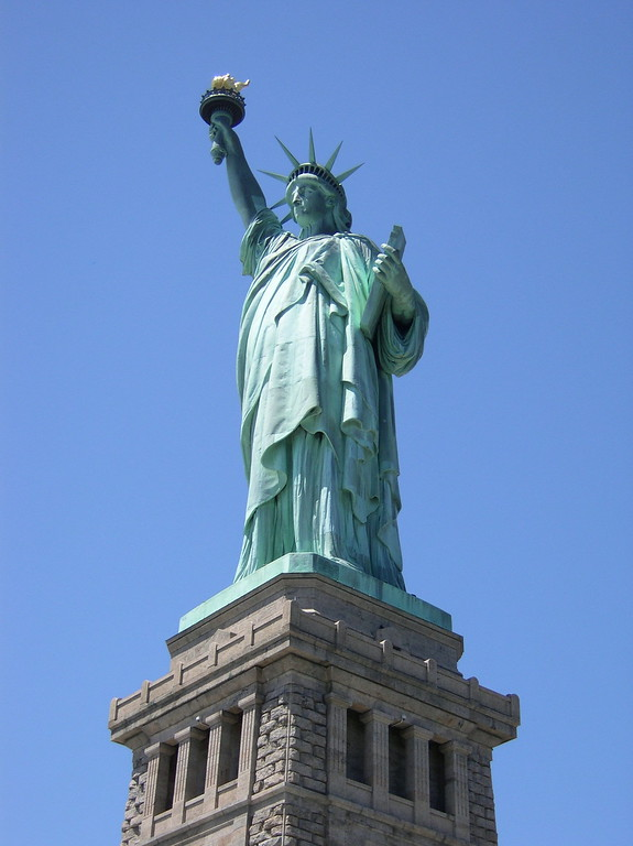 Statue of Liberty from below, New York City