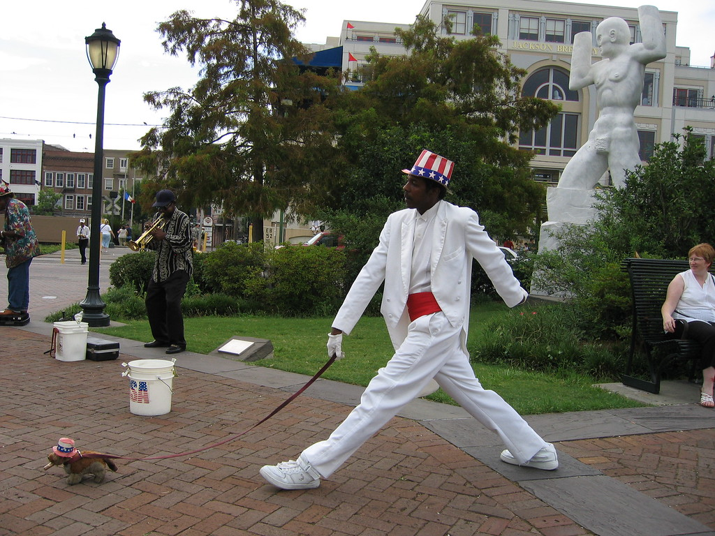 Street performer in New Orleans, Louisiana