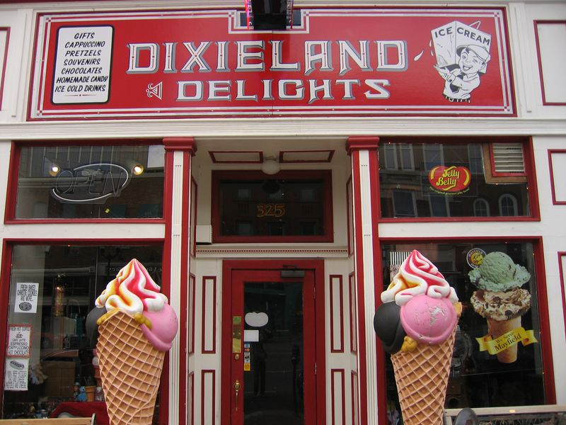 Dixieland Delights ice cream in Nashville, Tennessee