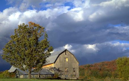 Farm barn in Waitsfield, Vermont