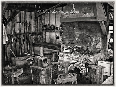 Working Blacksmith Shop at Jamestown, VA
