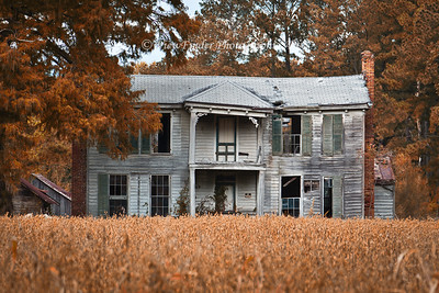 This old farm house in Isle of Wight County, like so many others, has been abandoned to  the passage of time.