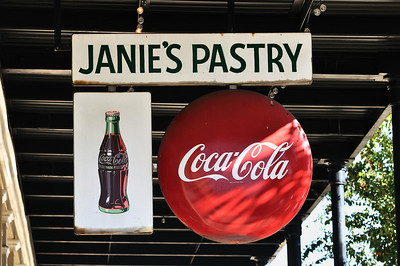 Coke in a bottle.  Vintage sign, Brookhaven, MS.