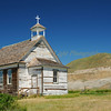 Country church in disrepair