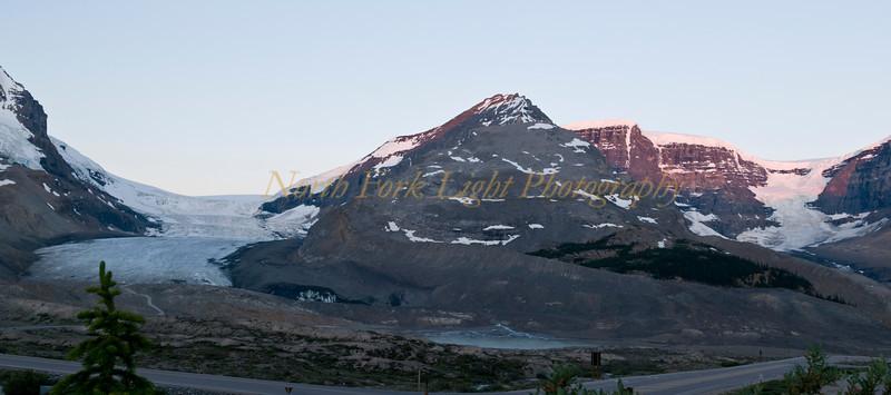 Sunrise at Athabasca Glacier