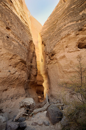Slot Canyon at Kasha Katuwe National Monument. (Tent Rocks)